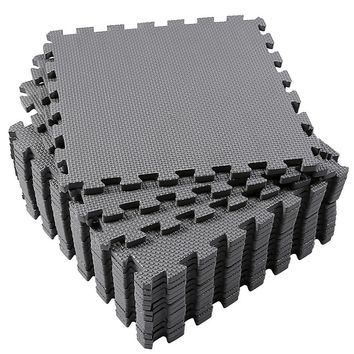 Interlocking Floor Tiles, Superjare 16 Tiles (16 tiles = 16 sq.ft) EVA Foam Puzzle Mat with Borders