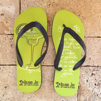 Margarita Flip Flops Ladies & Men's Caribbean Beach Flip Flops - Pick Size