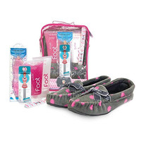 Bath Accessories Foot Spa Slipper Set, Grey Mocassins Guava Chiffon