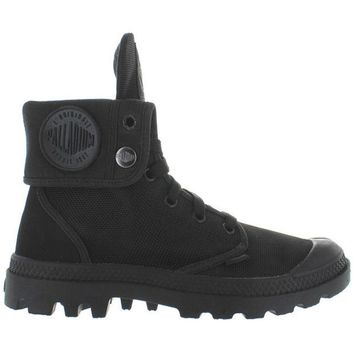 VONES2C Palladium Monochrome Baggy II - Black Canvas Fold-Over Lace-Up Boot