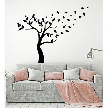 Vinyl Wall Decal Tree Branch Autumn Nature Kids Room Stickers Mural (g881)