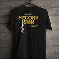 INFAMOUS SECOND SON PS4 PS3 XBOX ONE game fan Men Black T-shirt S-XXXL