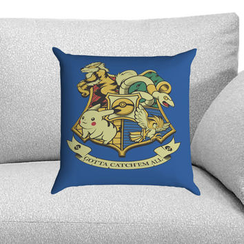 Pokemon Hogwarts Logo Custom Pillow Case for One Side and Two Side