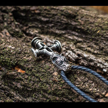 Thor's Hammer Mjolnir Pendant Viking Amulet Sterling Silver Necklace Scandinavian Pendant Norse Jewelry
