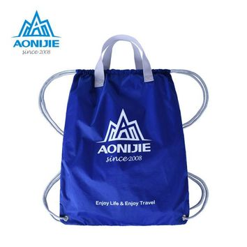 Sports gym bag AONIJIE Sport Bags Backpack Women Men Fitness Gym Bag s Drawstring Backpack Solid Tote Ultralight Softback KO_5_1
