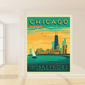 Anderson Design Group's Chicago Mural wall decal