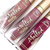 Too Faced melted matte lip gloss 12 colors