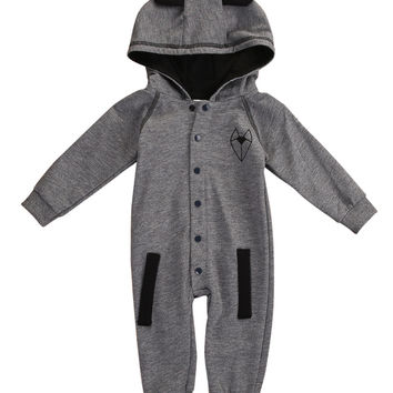 Autumn Winter Newborn Infant Baby Boy Girl Long Sleeve fox's tail Hooded Clothes Outfit Jumpsuit Rompers Playsuit Set