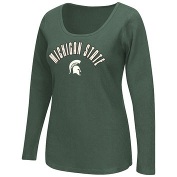 Michigan State Spartans Women's Storm Thermal Long Sleeve T-Shirt – Green