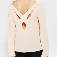 Urban Outfitters - Staring At Stars Cross-Back Bell-Sleeve Blouse