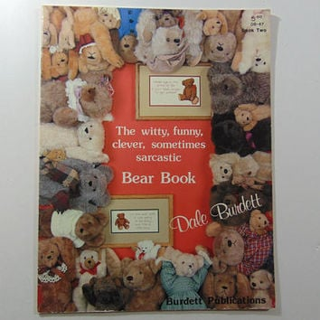 The Witty, Funny, Clever, Sometimes Sarcastic Bear Book By Dale Burdett Cross Stitch Pattern Leaflet