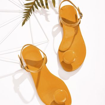 Toe Post Buckle Strap Sandals