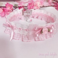 ..Gingham Frill Choker.. from Rose Pink Delights