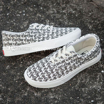 2017 the top quality new era MEN Women vans Casual Shoes Fashion FEAR OF GOD x VAN Casual lovers Canvas shoes