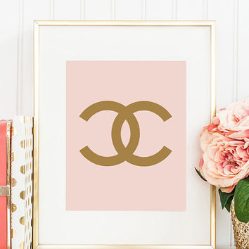 Chanel CC logo Coco Chanel Print  Home Decor Office Decor Wall Decor Fashion Print