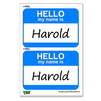 Harold Hello My Name Is - Sheet of 2 Stickers