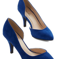 ModCloth Minimal Laud and Cheer Heel in Cobalt