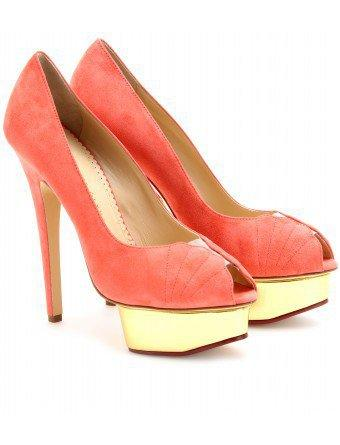 mytheresa.com - Charlotte Olympia - DARYL SUEDE PLATFORM PEEP-TOES - Luxury Fashion for Women / Designer clothing, shoes, bags