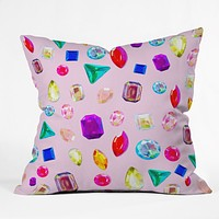 Natalie Baca Rhinestone Reverie In Pink Throw Pillow