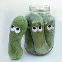 Dill Pickle  Plush Food by plushoff on Etsy