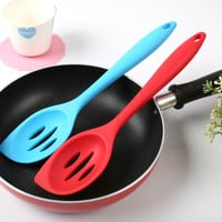 Hot Deal Kitchen Helper Home On Sale Easy Tools Tools Kitchenware High Temperature Resistance Silicone Spoon 2pcs/set [10211413900]