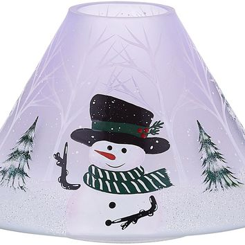The Birchhearts Snowman Large Glass Candle Shade
