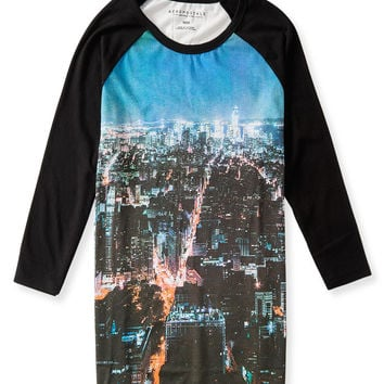 3/4 Sleeve Raglan City Tee