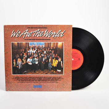 """USA FOR AFRICA - """"We Are the World"""" vinyl record"""