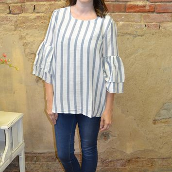 Our Love Goes On Striped Top