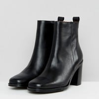 SixtySeven Black Heeled Ankle Boots at asos.com