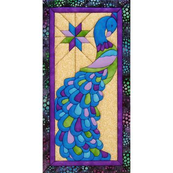 "Peacock Quilt Magic Kit-9.5""""X19"""""
