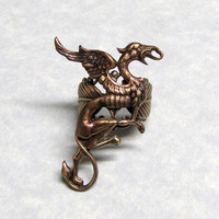 Fairytail Griffin Leaf Ring by ranaway on Etsy