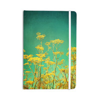 """Sylvia Cook """"Yellow Flowers"""" Teal Sky Everything Notebook"""