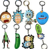 Rick and Morty Head Keychain