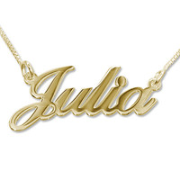 Personalized Classic Name Necklace in 18k Gold Plating