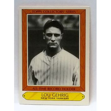 Copy of 1985 Woolworth/Topps #14 Lou Gehrig All-time Record Holder, Yankees