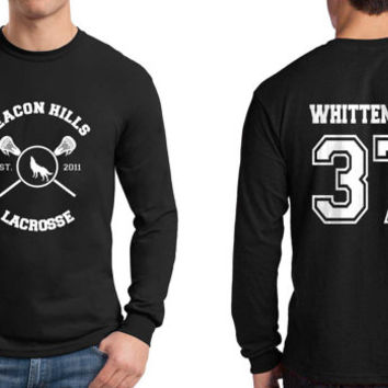 Whittemore 37 Beacon Hills Lacrosse Wolf Longsleeve Men Black