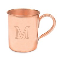 Cathy's Concepts Monogram Copper Moscow Mule Mug (Brown)