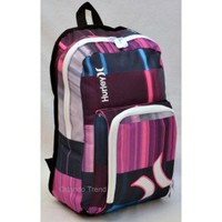 Hurley Sync 15.4 Laptop Backpack in Pink Blue Purple and Gray HYC760F11 at OrlandoTrend.com
