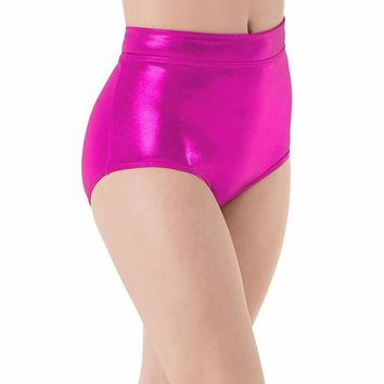 Mid Waist Shiny Elastic Hot Pants Shorts (13 Colors)