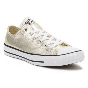 DCKL9 Converse All Star Chuck Taylor Womens Metallic Light Gold/Black/White Trainers