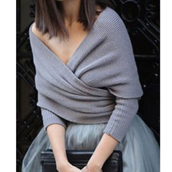 Cross Front Strapless Pullover Blouse