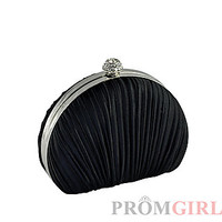 Black Pleated Clutch