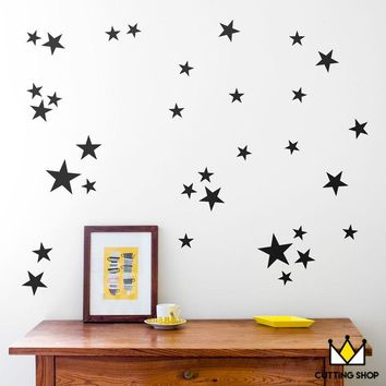Nordic style Star Wall Sticker Home Decor Cartoon Star Wall Stickers For Kids Room Nursery Baby Girl Boy Bedroom Wall Decals