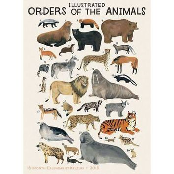 Orders of Animals Poster Calendar, Wildlife by Sellers Publishing