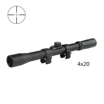 4x20 Tactical Hunting Rifle Scope w/ Mount || Wild Deals Club