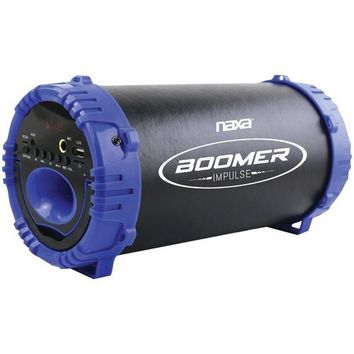 Naxa Boomer Impulse Led Bluetooth Boom Box (blue) (pack of 1 Ea)