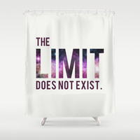 The Limit Does Not Exist - Mean Girls quote from Cady Heron Shower Curtain by AllieR