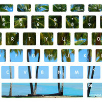 Palm Trees Macbook Keyboard Stickers