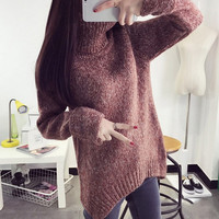 Vintage Warm Loose Pullover Turtleneck Sweater